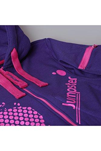 Jumpster Damen und Herren Jumpsuit Langer Overall First G. Slim Fit Pink - 5