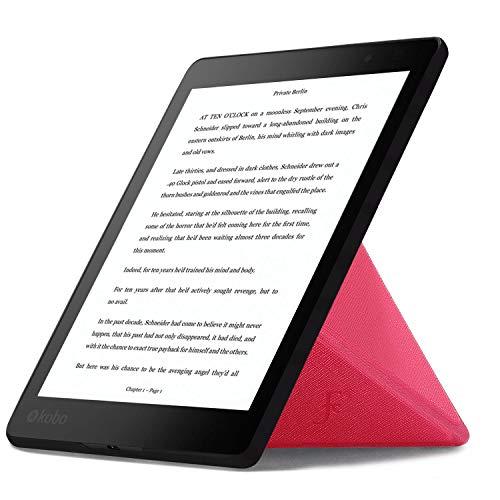 Forefront Cases Hülle für Kobo Aura ONE 7.8 Origami Schutzülle Case Cover & Ständer für - Dünn Leicht, Rundum-Geräteschutz & Auto Schlaf Wach Funktion + Stift - Rosa