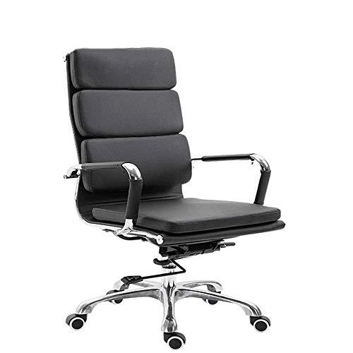 SXNYLY Funcion de Alta a Oficina reposacabezas y Soporte Lumbar for sillas de Juego Silla ergonomica inclinacion Ajustable sillas de Escritorio Sala giratoria de tareas (Color : Negro)