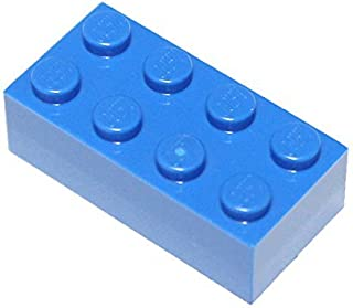 LEGO Parts and Pieces: Blue (Bright Blue) 2x4 Brick x100