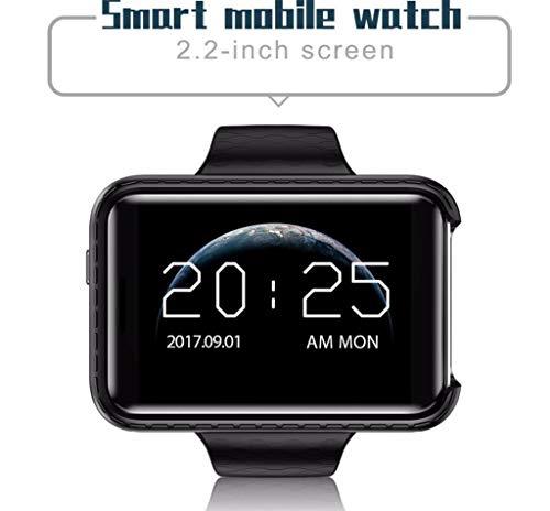 OLPvh MP3-speler Bluetooth Smart Watch is een mobiele telefoon/stappenteller/horloge/rekenmachine/slaapmonitor 720 HD camera MP3-speler Smart, zilver.