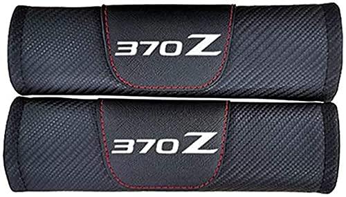 2 Piezas Almohadillas para Cinturón de Seguridad, para Nissan 370z, Hombreras Carbono Accesorios Interiores de Coche Cuero