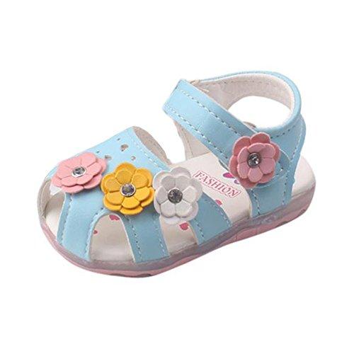 CCIKun Babyschuhe Sandalen Kinder Sommer Schuhe LED Sandalen Kinderschuhe Mädchen Sandalen Kleinkind Schuhe Outdoor Sandalen Prinzessin Schuhe Licht Sandalen Für 0-18 Monate(Blau,9-12 Monate)
