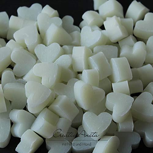Florex Schafmilchseife mini mini Herz 100 Stück Natur im Organzasäckchen Seife Gastgeschenk