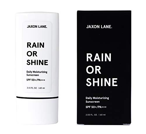 JAXON LANE RAIN OR SHINE Moisturizing Face Sunscreen | SPF 50 | UVA & UVB | 2.03 oz | Enriched with Vitamin E, Hyaluronic Acid, Green Tea, Licorice Root & Ginseng Extract