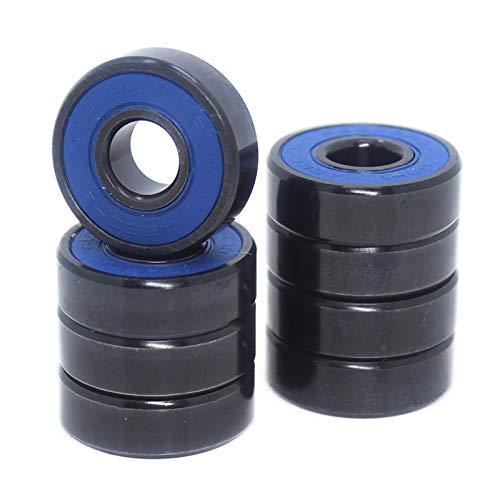 QQGGTongFeng Skateboard 608-Black Bearings 8x22x7mm (10 PCS) ABEC-9 608 V RS Surface Black PA66 Cage 608 Ball Bearing for Skateboards, Inline Skates, (Size : 10PCS)