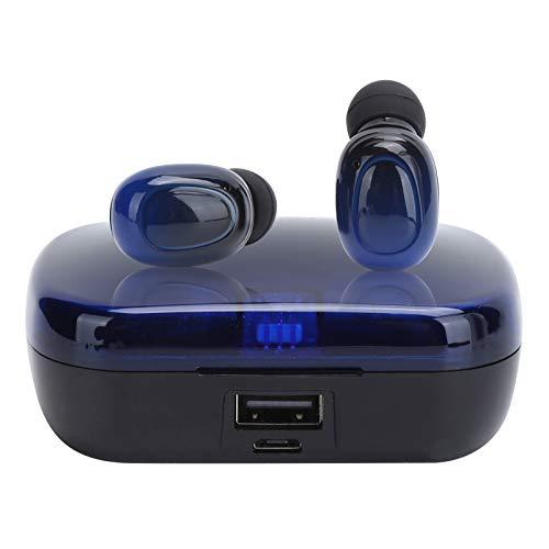 Lazmin112 Auriculares inalámbricos Bluetooth 5.0, Auriculares TWS de Control táctil con Caja de Carga, Auriculares Deportivos con conexión automática de reducción de Ruido Activa
