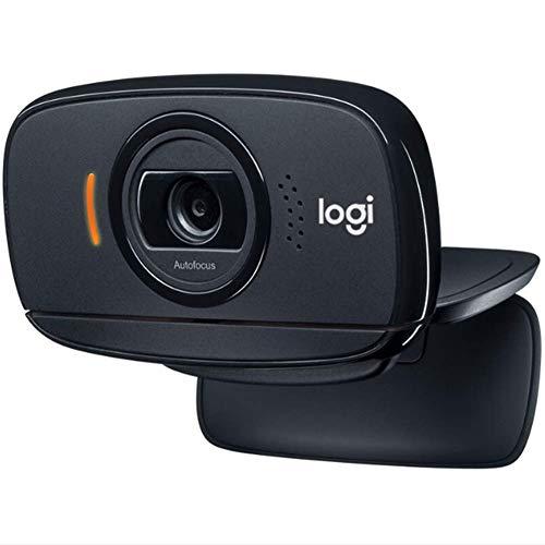 LOISK B525 HD 720P Portable Webcam 360 Giratoria 30Fps Pantalla Ancha HD Videollamadas Enfoque Automático con El Micrófono Reducción Ruido, para El Ordenador Portátil Skype, Facetime, Hangouts