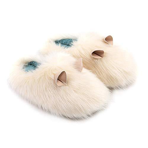 WMYATING Las Zapatillas de algodón Unisex para otoño e invi Zapatillas de Felpa Guinea Pig Shape Home Mujeres Lindas Parejas Interior Calientes Zapatillas para el hogar Mullido