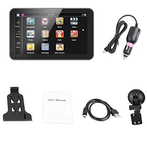 MP5 Car Player - Reproductor multimedia Pantalla de 7'Navegador portátil para automóvil Navegación GPS DDR256M 8G FM con mapa gratuito(1)