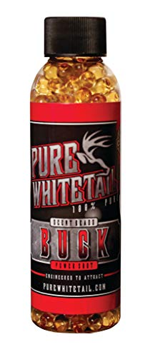 Pure Whitetail Power Shot Buck Scent – Time Release Scent Beads Infused with Fresh 100% Pure Buck Urine from One Individual Buck for Mock Scrapes