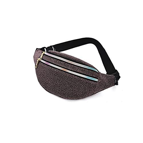 Yuxahiugyb Bolso Bolso de la Cintura Paquete de Fanny Pack de Mujeres Bolsa de cinturón de Las Mujeres Oxford Hip Bag Bolsa Viaje Brillante Pocket Cremallera Bolso Bolso para Moblie Teléfono