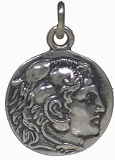 Alexander The Great Hercules Small Silver Coin Pendant - Macedonia Vergina King