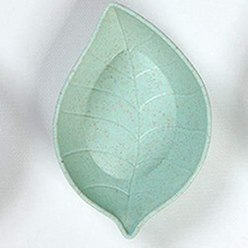 Wenjie Piatto di Salsa in Ceramica Creativa Piatto Piccolo Piatto di Salsa all'aceto Verde - Verde