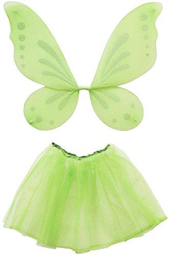 Widmann 8003558822409 8224T - Kostümset Waldfee, Flügel und Antennen, Schmetterling, Mottoparty, Karneval