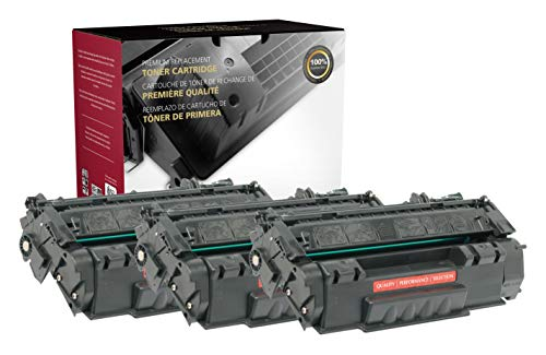 Inksters Remanufactured Toner Cartridge Replacement for HP 53A Q7553A MICR for Laserjet M2727 MFP M2727NF MFP P2010 P2014 P2015 P2015D P2015N P2015X 02-81212-001-3K Pages (Black) - 3 Pack