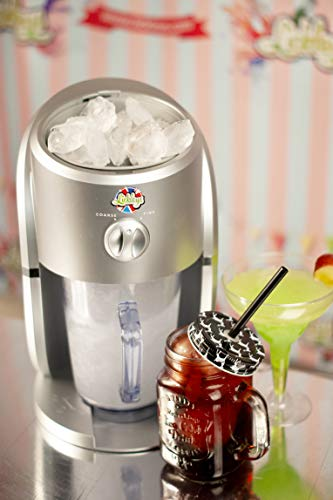 Lickleys Cono de Nieve Hielo Afeitadora/Granizado Fabricante Hace Hogar Hielo Bebidas, Presentado con Sazonado Siropes - Black Machine with 6 Flavours