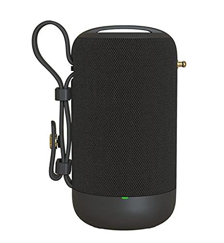 XinC Altavoz Bluetooth, Altavoz portátil inalámbrico, Altavoz estéreo Bluetooth inalámbrico Speaker 5.0, con 12h Tiempo de Juego, Altavoz Exterior, para Exteriores, Camping,Negro