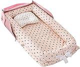 Meiruyu Bolsa de Viaje para bebé con pañal. Cuna de Viaje Plegable, mesita de Noche Tumbona de bebé Transpirable. Cuna portátil Multifuncional para Dormitorio. Bolsa Ligera para Momia. 0-24 Meses (C)