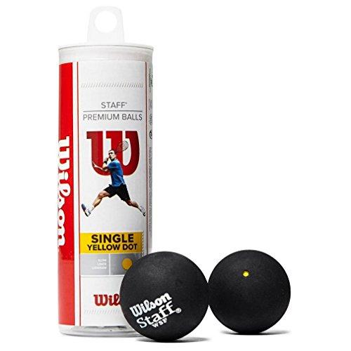Wilson Staff Pelota de Squash 3 Unidades, Unisex,Amarillo I Negro, 6 Piezas/Paquetes