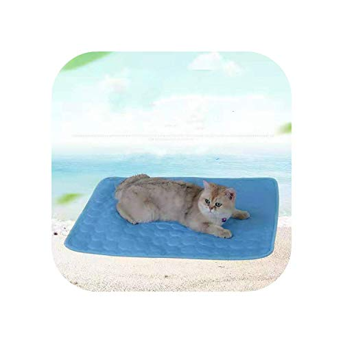 Big Incisor Bikini Ultra Absorbent Microfiber Pet Mats| Pet Cooling Ice Pad Summer Pet Supplies Sofa Cushion Cold Feeling Dog's Cooling Pad Summer Cooling Dog Cooling Pad-Blue-M