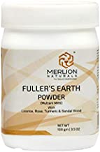 Fullers Earth Powder with Sandal Wood, Turmeric, Licorice and Rose by Merlion Naturals | Multani Mitti | 100gm/ 3.5OZ | 10...