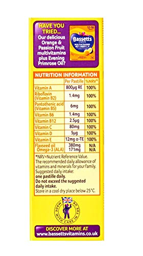 Bassetts 12-18 Years, + Omega 3, Citrus Flavour, One A Day Soft and Chewy Multivitamin, 30 Pastilles