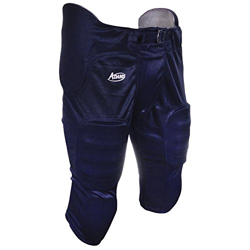 ADAMS USA Pro-Sheen Gameday Youth Football Pant with Integrated Pads Navy Blue, Small