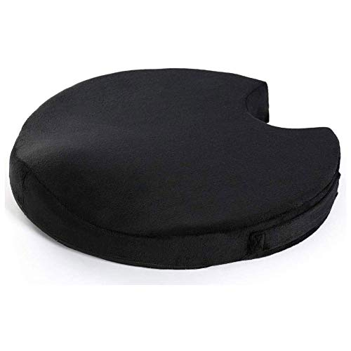 QPLKKMOI Seat Cushion Pillow for Office Chair - Memory Foam Firm Coccyx Pad - Contoured Posture Corrector for Car, Wheelchair, Computer and Desk Chair