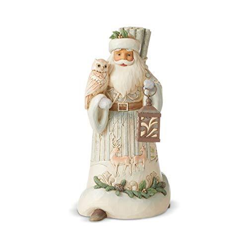 Enesco Jim Shore Heartwood Creek Woodland Santa with Owl/Lantern Figurine