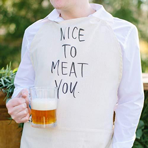 N/ A SALE Schürze Nice To Meat You Geschenk Grillschürze Männerbekleidung Einweihungsgeschenk Küchendekoration