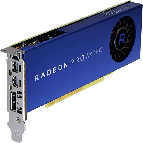 AMD Radeon Pro WX 3100 4 GB GDDR5 - Tarjeta gráfica (Radeon Pro WX 3100, 4 GB, GDDR5, 128 bit, 1500 MHz, PCI Express x16)