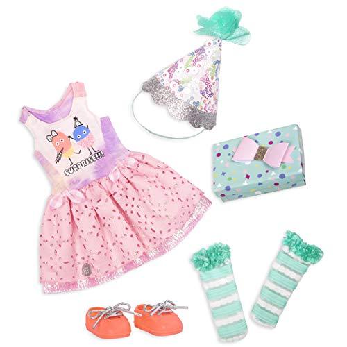 Glitter Girls GG50098Z Battat - What a Surprise - 14 Zoll Deluxe Geburtstag Party Puppe Outfit - Spielzeug, Kleidung und Zubehör für Mädchen ab 3 Jahren
