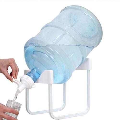 Cabilock vattenflaska kanna dryckesdispenser förvaring kylställ rostfritt stål hållare för bänkskiva (vit)
