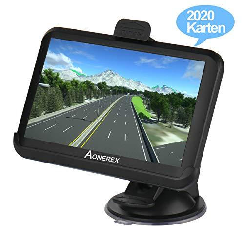GPS Navi Navigation für Auto LKW PKW KFZ Aonerex 5 Zoll Touchscreen 8GB 256MB Navigationssystem Lebenslang Kostenloses Kartenupdate das Navigationsgerät Neueste 52 Karten Europa
