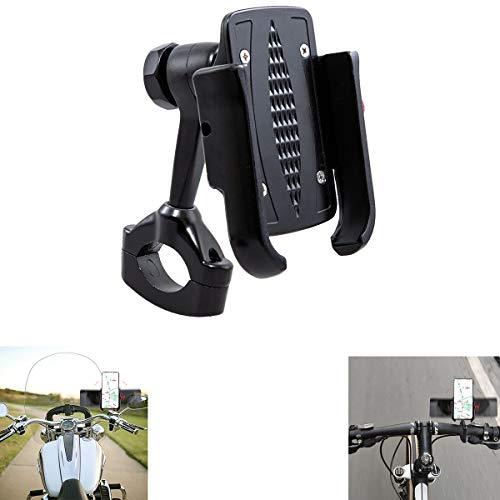 evomosa Soporte para Teléfono Celular para Bicicleta, Soporte Universal para Teléfono Móvil con Manillar de Bicicleta de Motocicleta de Acero Inoxidable para Teléfono Inteligente de 4-7 Pulgadas