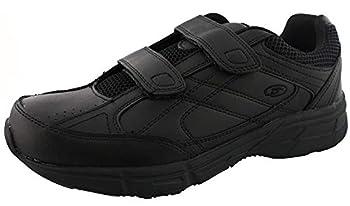 Dr Scholl s - Men s Brisk Light Weight Dual Strap Sneaker Wide Width  12 Wide Black