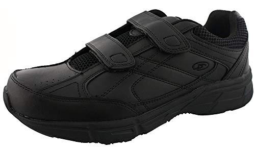 Dr. Scholl's - Men's Brisk Light Weight Dual Dtrap Sneaker, Wide Width (10 Wide, Black)
