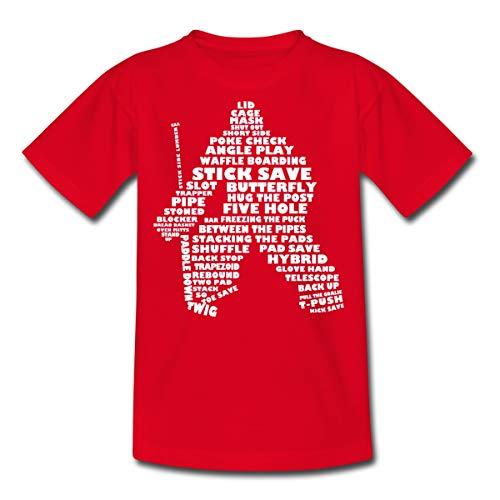 Eishockey Sprache Goalie Teenager T-Shirt, 134-146, Rot