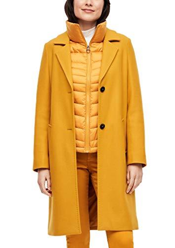 s.Oliver Damen Wollmix-Mantel mit Ziernähten yellow 38