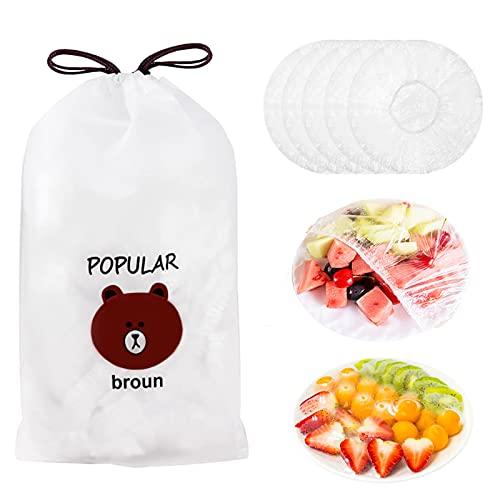 TaimeiMaoBolsas De Conservación Fresca, Bolsas para guardar alimentos frescos, 100 Piezas de Fundas elásticas Reutilizables para Almacenamiento de Alimentos, Fresh Keeping Bags (100 pezzi)