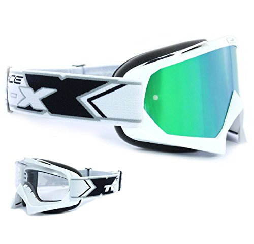 Gafas TWO-X para motocross con cristal de espejo. Gafas protectoras para Motocross con cristal de espejo anti rozaduras.