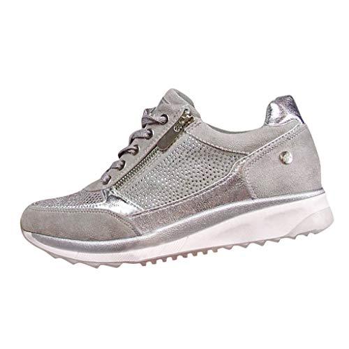 Zapatillas Mujer Deportivas Plataforma Cuña Verano