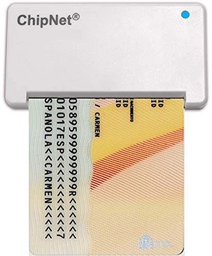 ChipNet Lector de DNI electrónico 3.0 y 4.0 + Tarjeta Criptográfica Certificado Digital * para Windows 10 y 11 FIRMAKIT