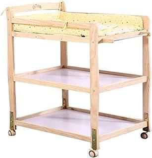 Mr.T El Cambio de Mesa For Cambiar pañales for bebés Tabla (con Tablero hidrófugo), la estación de Tocador portátil de Madera Mesa de Cuidado del bebé