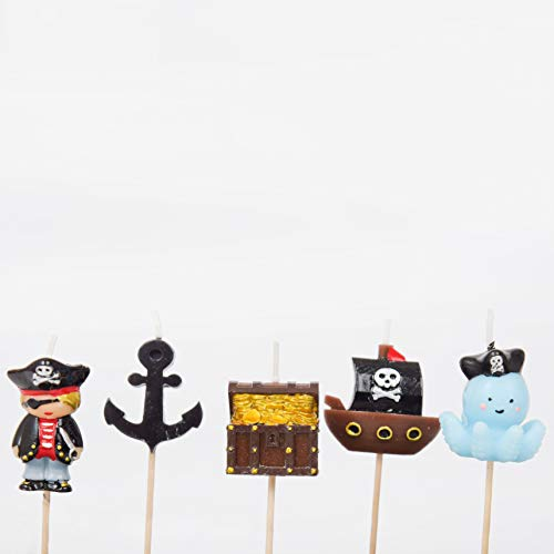 Smiling Faces Pirate Party Cake Candles