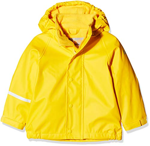 CareTec Kinder Regenjacke mit Fleece Lining, Gelb (Yellow 324), Herstellergröße: 74