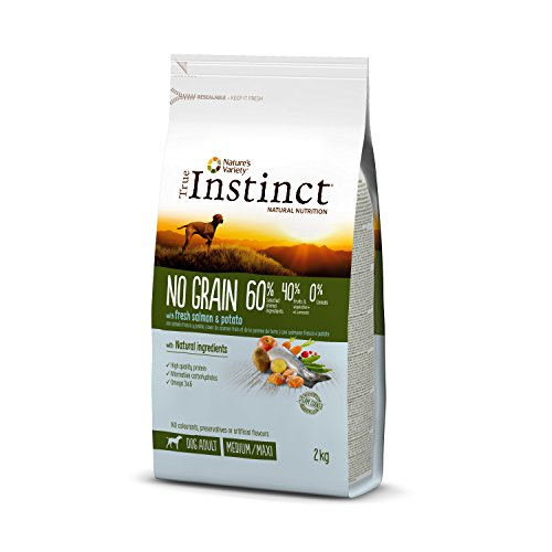 True Instinct No Grain - Nature's Variety - Pienso sin Cereales para Perro Adult Medium-Maxi con Salmón - 2kg 🔥