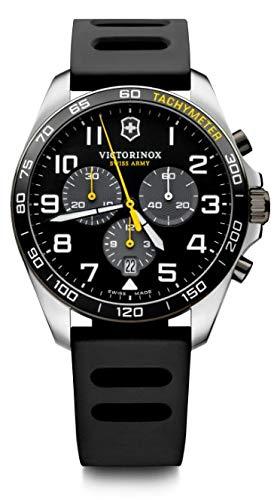 Victorinox Herren FieldForce Sport Chronograph - Swiss Made Analog Quarz Edelstahl/Gummi Uhr 241892