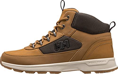 Helly Hansen Mens Wildwood Waterproof Leather Winter Boot, 725 Honey Wheat/Coffee Bean, 12